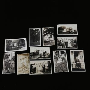 Set of 11 antique photographs from 1920s-1930s